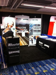 Wheaton's trade show booth