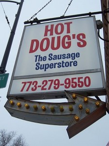 Hot Doug's Sign in Chicago