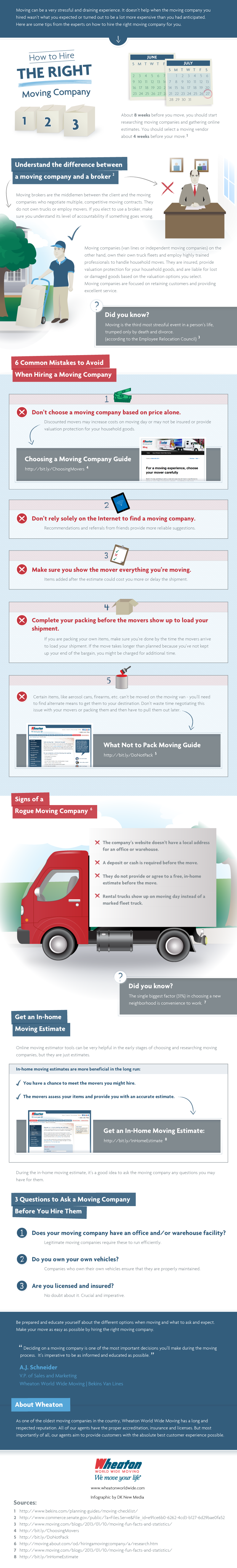 Free infographic on how to hire the right moving company