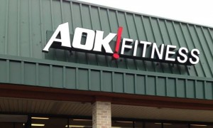 the outside of the AOK! Fitness building