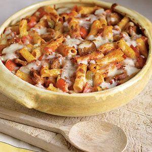 Sausage & Pepper Baked Ziti