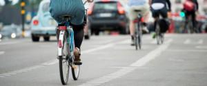 Healthy people bicycle