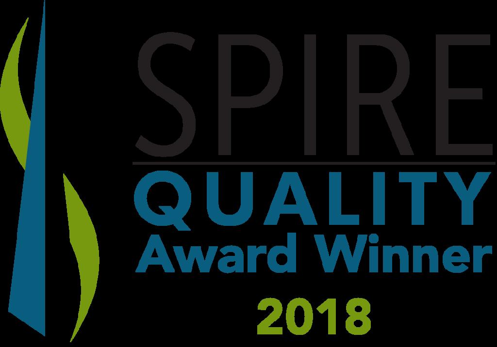 spire quality award winner 2018