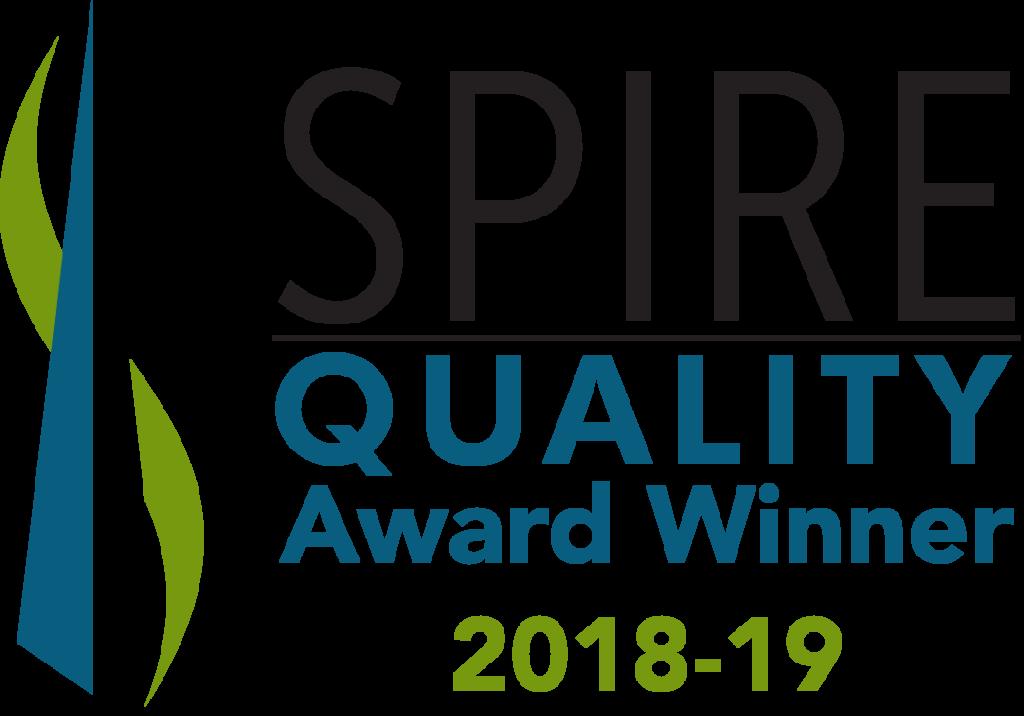 spire quality award winner 2018-2019