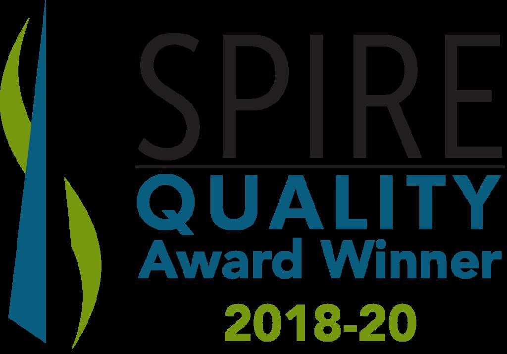 spire quality award winner 2018-2020