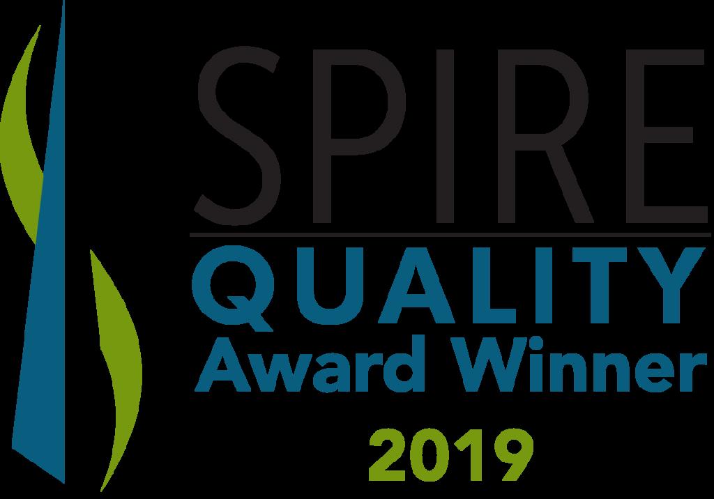 spire quality award winner 2019