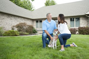 Wheaton couple with dog