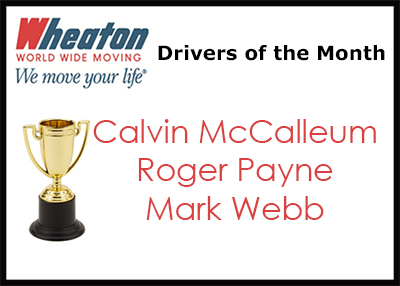 Wheaton Drivers of the Month - November 2015