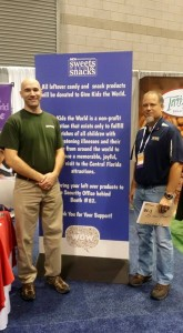 Dan Boerman and Jason Fontaine at the Sweet Treat Confectioners Trade Show