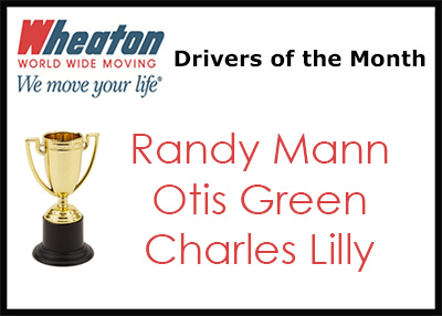 Wheaton Drivers of the Month - December 2015