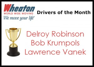 Wheaton Drivers of the Month - January 16
