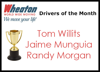 Wheaton Drivers of the Month - February 2016
