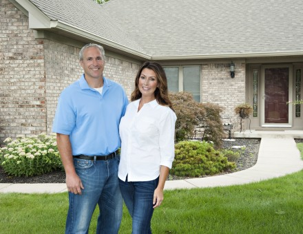 Wheaton Couple in Front of House