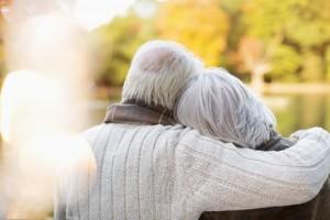Older coupole hugging