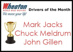 Wheaton Drivers of the Month - March 2016