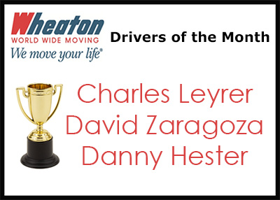 Wheaton Drivers of the Month - April 2016