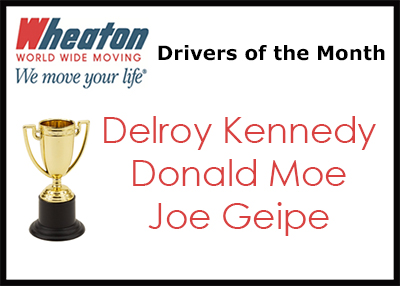 Wheaton Drivers of the Month - June 2016