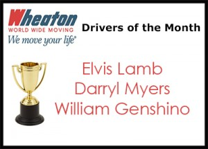 Wheaton Drivers of the Month - July 2016