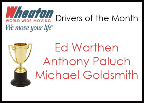 Wheaton Drivers of the Month - August 2016
