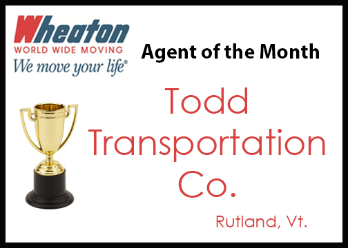 Todd Transportations - Agent of the Month