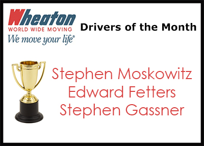 Wheaton Drivers of the Month - January 17