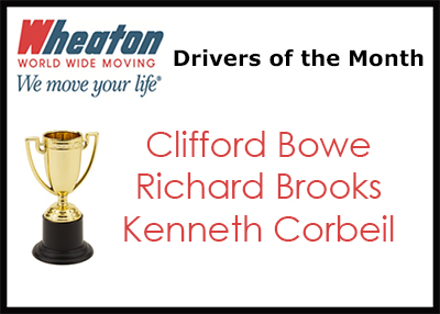 Wheaton Drivers of the Month - February 2017