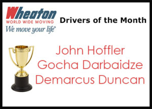 Wheaton Drivers of the Month - March 2017