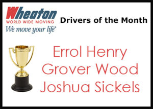 Wheaton Drivers of the Month - April 2017