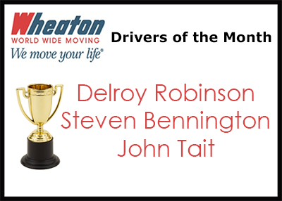 Wheaton Drivers of the Month - May 2017