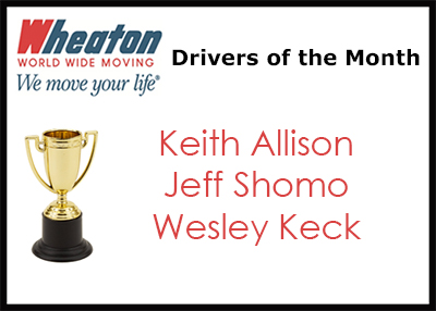 Wheaton June 2017 Drivers of the Month - June 2017