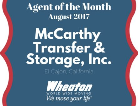 Agent of the Month sign