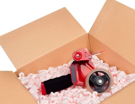 Moving Box with Packing Tape