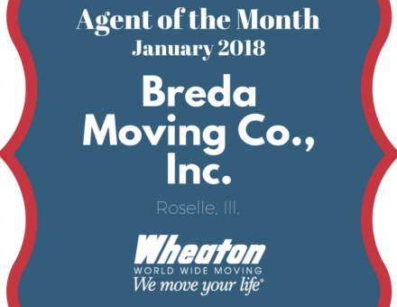 wheaton agent of the month sign