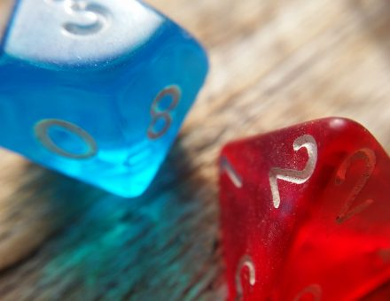 blue and read dice