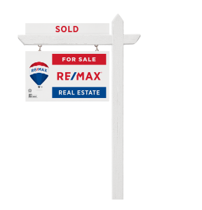 RE/MAX sold sign